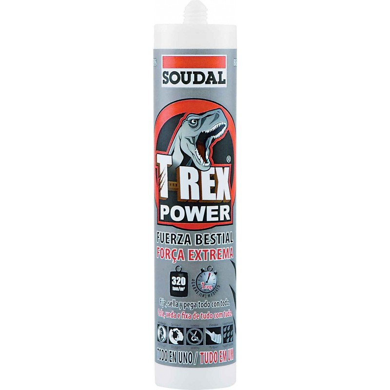 ADHESIVO T-REX POWER SOUDAL 290ML.BLANCO