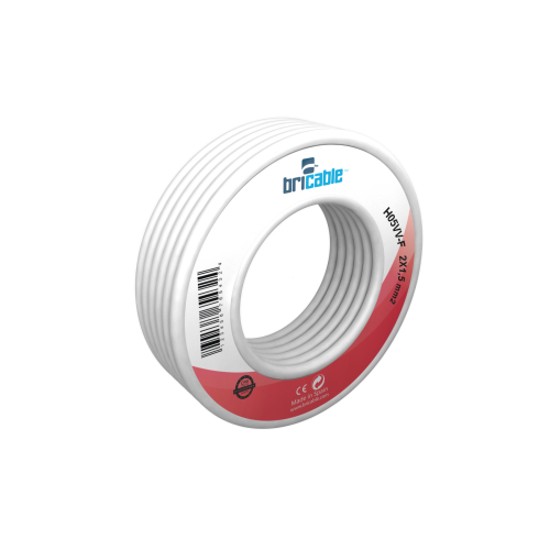 CABLE ELECTRICO MANGUERA 2X1´00 MM. BLANCO