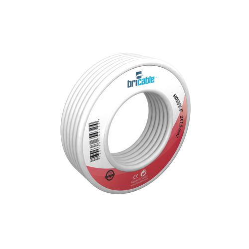 CABLE ELECT.MANG. 2X1'50MM. BLANCO