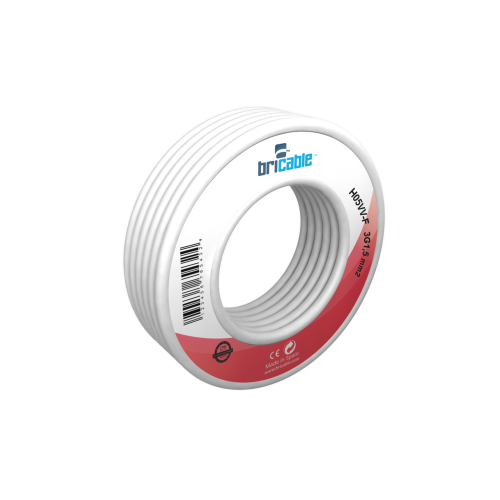 CABLE ELECT.MANG. 3X1'50MM.  5MTS.BLANCO